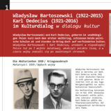 Exhibition panels for »Władysław Bartoszewski (1922–2015)«: Culturual dialogue with Karl Dedecius